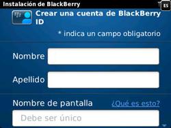 Crea una cuenta - BlackBerry Curve 9320 - Passo 6