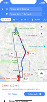 Uso de la navegación GPS - Apple iPhone X - Passo 17