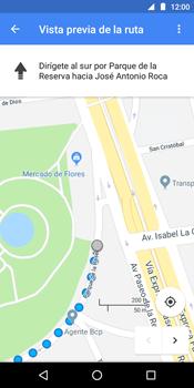 Uso de la navegación GPS - Motorola Moto E5 - Passo 16