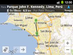 Uso de la navegación GPS - Samsung Galaxy Y Pro GT - B5510 - Passo 17