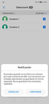 ¿Tu equipo puede copiar contactos a la SIM card? - Huawei P20 Lite - Passo 8