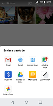Transferir fotos vía Bluetooth - LG Q6 - Passo 9