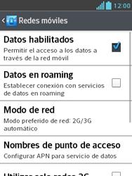 Configura el Internet - LG Optimus L3 II - Passo 8