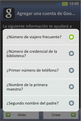 Crea una cuenta - Motorola MotoSmart Me  XT303 - Passo 11