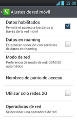 Configura el Internet - LG Optimus L7 - Passo 8