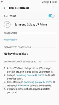 Configura el hotspot móvil - Samsung Galaxy J7 Prime - Passo 14