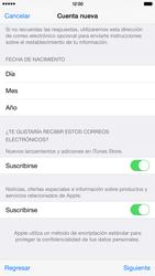 Crea una cuenta - Apple iPhone 6 Plus - Passo 16