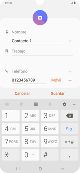 Cómo crear o editar un contacto - Samsung Galaxy A30 - Passo 7