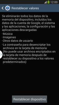 Restaura la configuración de fábrica - Samsung Galaxy Note Neo III - N7505 - Passo 7