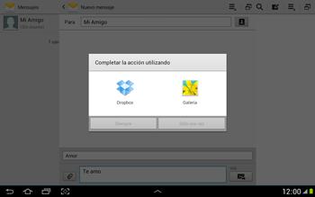 Envía fotos, videos y audio por mensaje de texto - Samsung Galaxy Note 10-1 - N8000 - Passo 13
