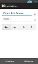 Uso de la navegación GPS - LG Optimus L5 II - Passo 13