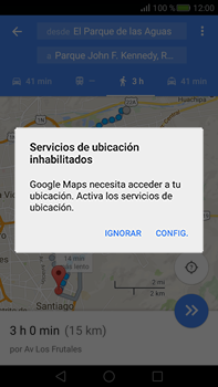 Uso de la navegación GPS - Huawei Mate S - Passo 17