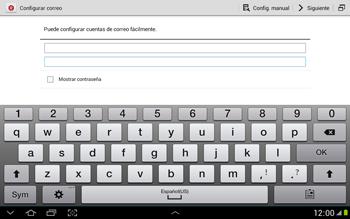 Configura tu correo electrónico - Samsung Galaxy Note 10-1 - N8000 - Passo 7