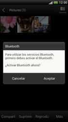 Transferir fotos vía Bluetooth - HTC One S - Passo 11
