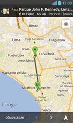 Uso de la navegación GPS - LG Optimus L5 II - Passo 17