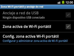 Configura el hotspot móvil - Samsung Galaxy Y Pro GT - B5510 - Passo 6