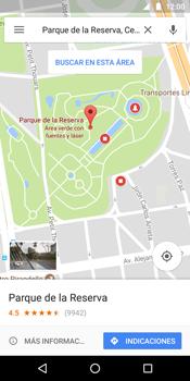 Uso de la navegación GPS - Motorola Moto G6 Plus - Passo 8