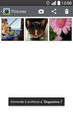 Transferir fotos vía Bluetooth - LG L70 - Passo 11