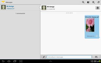 Envía fotos, videos y audio por mensaje de texto - Samsung Galaxy Note 10-1 - N8000 - Passo 18