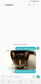 Envía fotos, videos y audio por mensaje de texto - Samsung A7 2018 - Passo 21