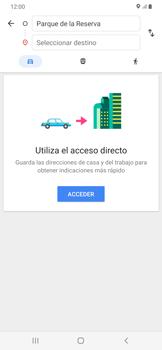 Uso de la navegación GPS - Samsung Galaxy A50 - Passo 12