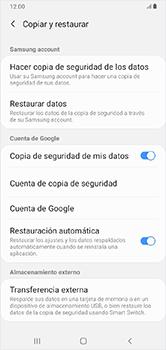 Realiza una copia de seguridad con tu cuenta - Samsung Galaxy A10 - Passo 7