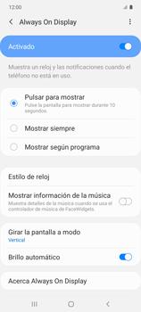 Cómo activar Always on Display - Samsung Galaxy S10 Lite - Passo 7