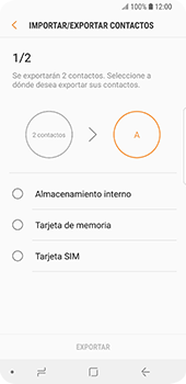 ¿Tu equipo puede copiar contactos a la SIM card? - Samsung Galaxy S9 - Passo 14