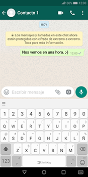 Usar WhatsApp - Huawei Mate 10 Pro - Passo 7