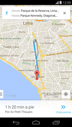 Uso de la navegación GPS - Motorola Moto G - Passo 21