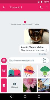 Envía fotos, videos y audio por mensaje de texto - Motorola Moto G6 Plus - Passo 18
