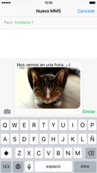 Envía fotos, videos y audio por mensaje de texto - Apple iPhone 6 - Passo 12
