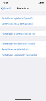 Restaura la configuración de fábrica - Apple iPhone X - Passo 5
