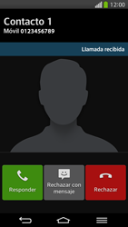 Contesta, rechaza o silencia una llamada - LG G Flex - Passo 5