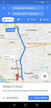Uso de la navegación GPS - Huawei P20 Lite - Passo 14