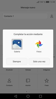 Envía fotos, videos y audio por mensaje de texto - Huawei Mate 8 - Passo 14