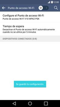 Configura el hotspot móvil - LG V10 - Passo 9