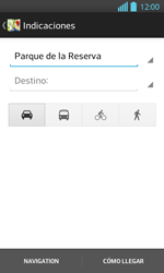 Uso de la navegación GPS - LG Optimus L 7 II - Passo 12
