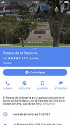 Uso de la navegación GPS - Apple iPhone 7 - Passo 9