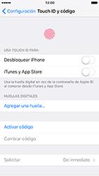 Activa o desactiva el uso del código de seguridad - Apple iPhone 7 - Passo 3