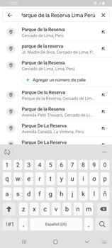 Uso de la navegación GPS - Samsung Galaxy A80 - Passo 8