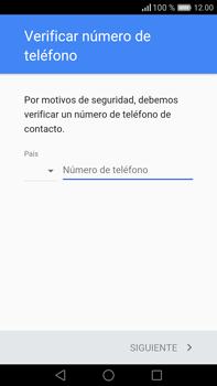 Crea una cuenta - Huawei Mate 8 - Passo 5