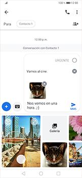 Envía fotos, videos y audio por mensaje de texto - Huawei P30 Pro - Passo 16