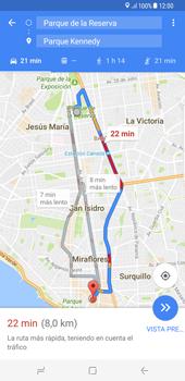 Uso de la navegación GPS - Samsung Galaxy S8+ - Passo 17