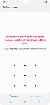 Desbloqueo del equipo por medio del patrón - Samsung Galaxy A10 - Passo 9