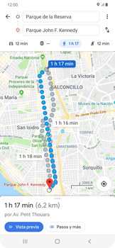 Uso de la navegación GPS - Samsung Galaxy A50 - Passo 16
