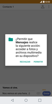 Envía fotos, videos y audio por mensaje de texto - LG G6 - Passo 14