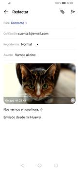 Cómo enviar un correo electrónico - Huawei P30 Lite - Passo 16
