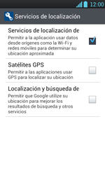 Uso de la navegación GPS - LG Optimus L7 - Passo 7