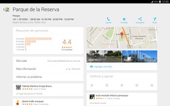 Uso de la navegación GPS - Samsung Galaxy Note Pro - Passo 10